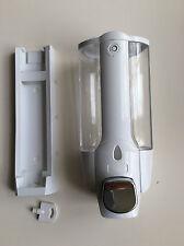 PUMPM CLEAR WALL MOUNTED SOAP SHAMPOO DISPENSER SHOWER WHITE