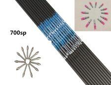 12pcs carbon express shaft spine500/600/700/800 ID4.2+12pcs pin nock+12pcs point