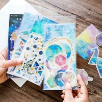 60 Sheet Cartoon Phone Decoration Label Diary Paper Sticker Galaxy Scrapbooking-