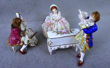 Irish Dresden Muller Volkstedt  Figurine Lace Musical Group Recital Porcelain