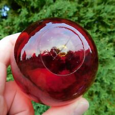 Beautiful Japanese Ruby Red Glass Float