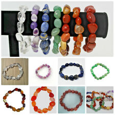 CHAKRA BRACELET SET: 7 Tumbled Gemstone Bracelets - 1 For Each Chakra!