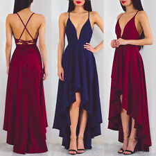 Long Formal Bridesmaid Ball Gown Maxi V-neck  Evening Prom Formal Party Dress