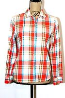 The North Face Women's Plaid Adjustable Sleeve Button Up Shirt Size Small