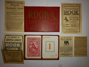 Very rare antique Rook card game 1913 complete set with various instructions
