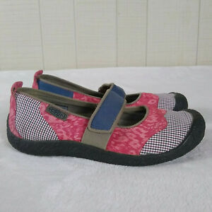 Keen Canvas Mary Jane Casual Shoes Slip On Sneakers Flats Patchwork 8.5 Comfort