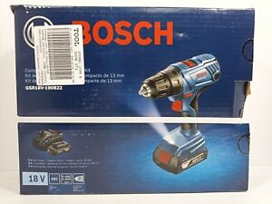 "Bosch GSR18V-190B22 18V Compact 1/2"" Drill/driver Kit with 2-Slimpack Batteries"