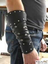 Pirate / barbarian / viking leather bracer with optional spots.Very comfortable!