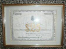 1879 Chicago & Minería de Nuevo México Co. $25 Bono ~ ~ certificado de acciones Enmarcado