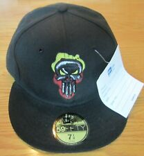 1104142fb3f Punisher Marvel Comics New Era Hat 59 Fifty New BLK 7 1 4 EXTREMELY RARE