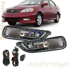 For 03-04 Toyota Corolla Fog Lights Bumper Lamps Kit OE Style Clean