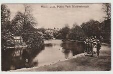 Middlesbrough - Middle Lake, Public Park 1915 Postcard Children 11E