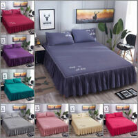 Bed Cover Bed Skirt Cotton Sheet Fitted Soft Bed Skirt Dust Bedding Home Textile