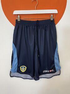 Men's Macron LUFC Leeds United Football Shorts Navy Blue UK Size M Medium