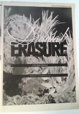 ERASURE Drama 1989 UK Poster size Press ADVERT 16x12 inches