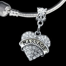 Massage charm massage jewelry European style Masseuse gift  body rub jewelry