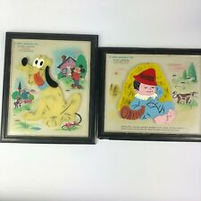 CHILDS GUIDANCE TOY FRAME PUZZLES Magnetic Vintage PLUTO Little Boy Blue Lot