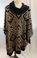 Rafaella Black Tan Sweater Poncho Size 3X - New w/Tags & Free Shipping