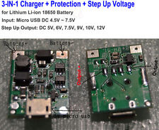 5V Micro USB 3.7V 18650 Lithium Li-ion Battery Charger Board Volt Boost Module
