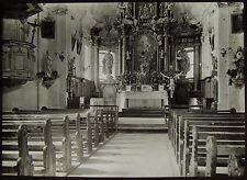 Glass Magic Lantern Slide SWISS GRISSONS NO30  C1910 PHOTO SWITZERLAND CHURCH