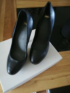 Asos ladies high heeled leather shoes size 5