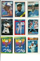 Lot of (40) Fred McGriff Baseball Cards w/ Rookie Card RC MLB Toronto Blue Jays