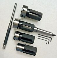 Lathe Tailstock Die Holder Set Of 4 Floating Type MT2 SHANK Holds Imperial Die #