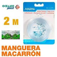 Manguera Macarrón PVC Marina  2m calidad aire Oxigenador CO2 Acuario difusor