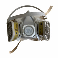 3M Niosh Half Face Respirator 5200 w Two Attached Niosh Filters Multi-Use