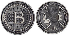 Bitcoin Guardian Antique Finish .999 Fine Silver Physical Cryptocurrency Coin
