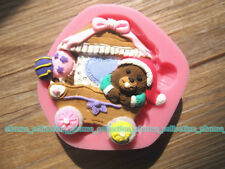Humorous Happy Bear XMAS Decorations Mold Cake Soap Candle Mould Cookie Cutters