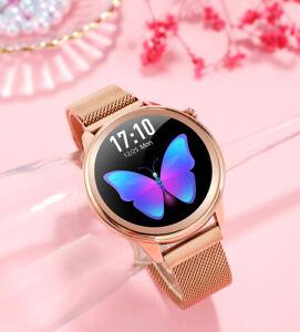 Sport Bluetooth Smartwatch Damen Sport Armband Uhr für Android IOS Smartphone DE