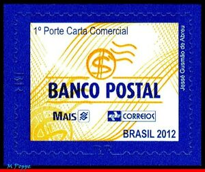 3231 BRAZIL 2012 POSTAL PRODUCTS AND SERVICES SERIES: POSTAL BANK, RHM 862, MNH