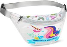 Omlee Unicorn Sport Waist Bag, Fanny Packs For Women Men, Girls Transparent Pvc