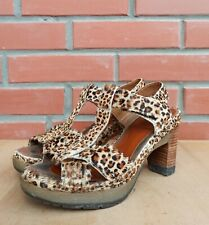 Dr Martens Sandals Women 5 UK 7 US Dorothy Mini Leopard Hair On High Heel Spotty