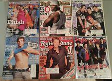 ROLLING STONE Magazine Lot of 6 Phish 50 Cent Good Charlotte The Strokes Kutcher