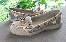 Womens SPERRY TOP SIDER boat shoes size US 5.5 M brown leather deck FREESHIPPING