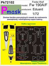 FOCKE-WULF FW-190 A/F PAINTING MASK TO EDUARD KIT #72102 1/72 PMASK
