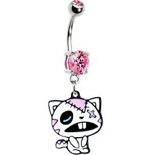 Pink Gem Zombie Cat Belly Ring