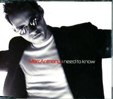 MARC ANTHONY I NEED TO KNOW 4 TRACK AUSTRALIAN PRESSING CD - EXCELLENT - VGC