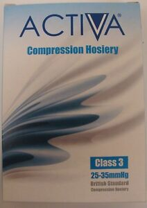 Activa Compression Hosiery Thigh Length Class 3 Sand Open Toe choose size