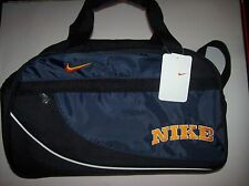 Nike Bag Gym Dufflebag Free Standing Mesh Pouch Zipper Top Blue Black Maize NWT