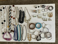 Lot #2, 45 Pieces vintage Jewelry, Necklaces, Earrings, Bracelets, FREE SHIPPING