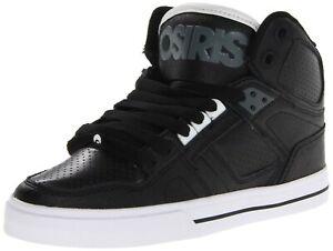 Osiris NYC 83 VLC Skateboard Shoes Men's Black/White/Charcoal 12241114 9 US 42