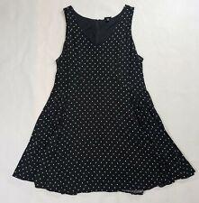 Torrid Women's Polka Dot Black Fit Flare Sleeveless Skater Dress Size 18