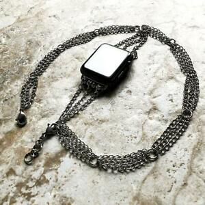 Curb Chain with Soldered Links Bracelet for Apple 38 40 42 44mm Watch All Series