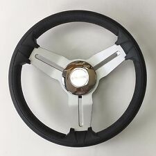New OEM Gussi Boat Steering Wheel M15 Brushed Aluminum Chrome ABS Center EVA Rim
