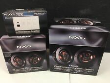 "NXG Zone Blue Bluetooth Wireless Speaker Kit Bundle 60W PreAmp +6.5"" 25W +8"" 30W"