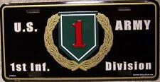 Aluminum Military License Plate Army 1rst Infantry Division