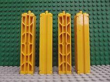 4 LEGO GIALLO supporta 2 x 2 x 8 scanalature & Top Peg reticolo su 2 lati No.30646a